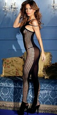 Seamless Opaque Double - Strap Halter Bodystocking One Size MWBWB36