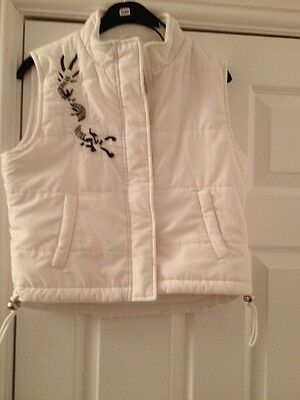 Girls White Fleece Lined Body Warmer By Tammy Age 12yrs