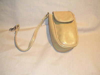 Wristlet Faux Leather Mustard in Color with Strap