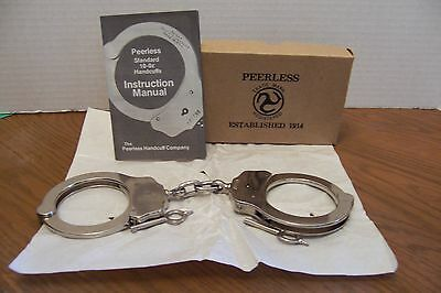Peerless Handcuff Co.-Polished Nickel Plated Chain Link Handcuffs-Vintage