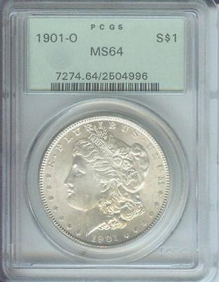 1901-O Morgan Silver Dollar S$1 Pcgs Ms64 Ms-64 Old Green Holder Ogh !!!!!!!