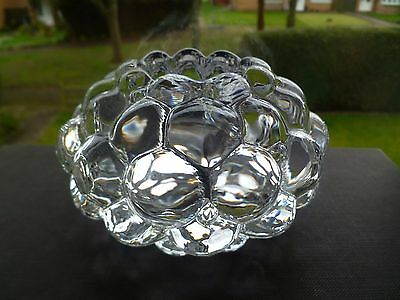 Orrefors Art Glass Raspberry Votive Candle Holder By Anne Nilsson Signed