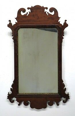 Super early 18th or early 19th Century Chippendale mirror, American