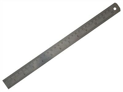 """FISHER 300mm (12"""") STAINLESS STEEL RULE / RULER - Metric & Imperial"""