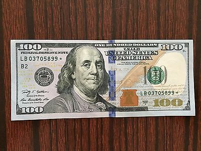 ONE* $100 2009A US Hundred Dollar Bill ONE(1) STAR *NOTE LB03705899*