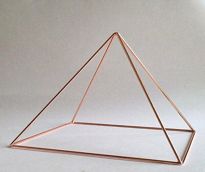 Copper Meditation Pyramid Healing Cleansing Crystals Pyramid Energy Tool
