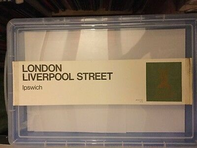 BR carriage window label The East Anglian to London Liverpool Street NT 75