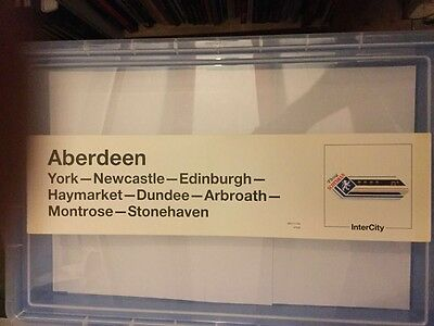 Unused BR carriage window label Flying Scotsman to Aberdeen  NT 258