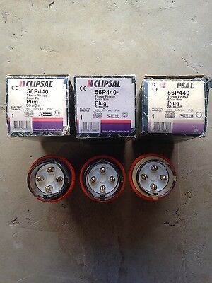 Clipsal Industrial 56P440 40amp 4pin Plugs