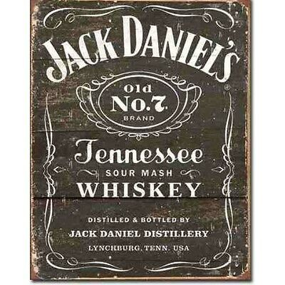 """Jack Daniel's"" Tennessee Whiskey,  Metal Tin Sign, Bar, Decor"