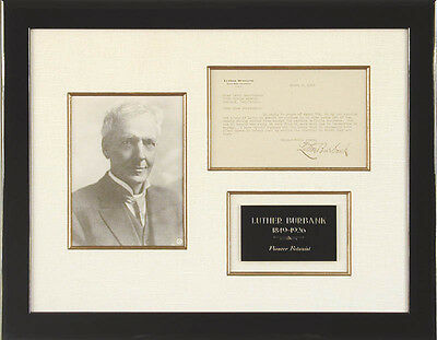 Luther Burbank - Typed Letter Signed 03/09/1923