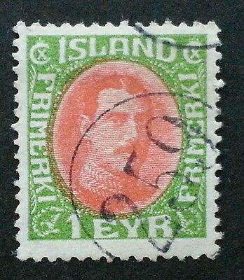ICELAND Scarcer Numeral Cancel 259