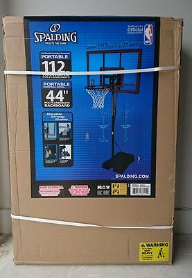 """Brand New in Box Official Spalding 44"""" Basketball Ring Hoop System. NBA Portable"""