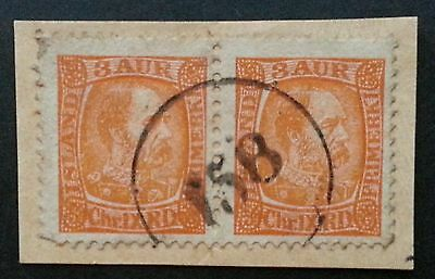 ICELAND Scarcer Numeral Cancel 158