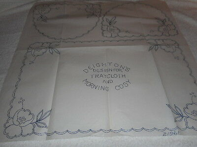 Large Vintage Embroidery Iron on Transfers-Deightons No. 21961 -Tray Cloth /Cosy