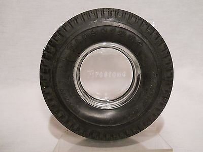 Firestone Transport 100 Tubeless Vintage Truck Tire with Glass Ashtray