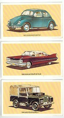 The Dinky Collection Collector Cards (1989) - Volkswagen, Cadillac, Land Rover