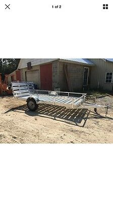 6X12 Aluminum Trailer with Gate and LED lighting $2350 OBO