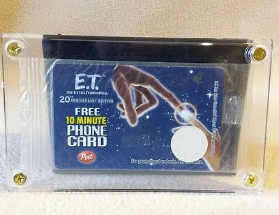 E.T Free 10 Minute Phone Card Promotional Use for 20th Anniversary