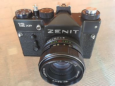 ZENIT 12 XP Vintage  35mm Russian Camera with Leather Case