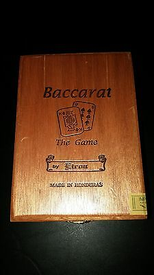CHURCHILL BACCARAT THE GAME EIROA Hinged Wood Cigar Box