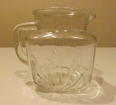 Federal Glass Star Pitcher*36 oz*Clear Glass*Excellent Condition