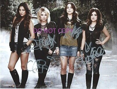 Pretty Little Liars Hand Signed By All 4 Cast With Coa 8X10 Autograph Photo