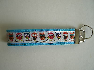 Owls Key Fob Key Chain Wristlet FREE SHIPPING Made in USA