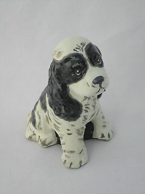 Ceramic Plaster Painted Dog Ornament Collectable