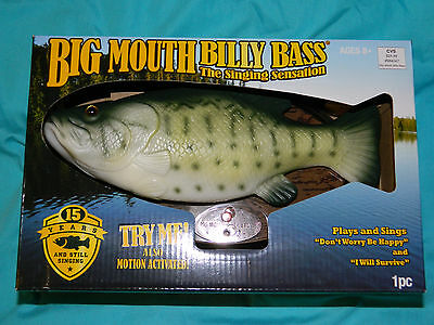 Big Mouth Billy Bass 15 Year Edition Animated Singing Trout Fish NEW Sealed RARE