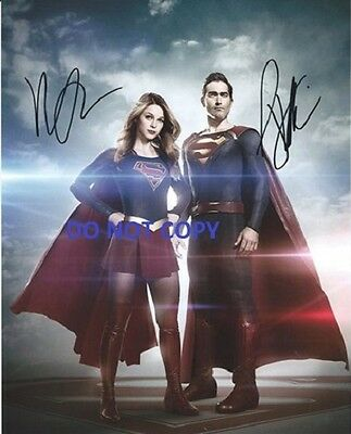 Hand Signed By Supergirl And Superman With Coa Rare Autographed 8X10 Photo