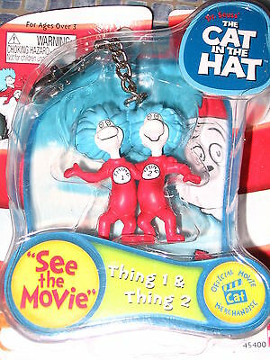 Dr Seuss Thing 1 & Thing 2 Keychain Brand  New!! Very Rare