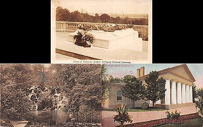 Lot of 4 Early/Vintage Virginia Postcards #44447