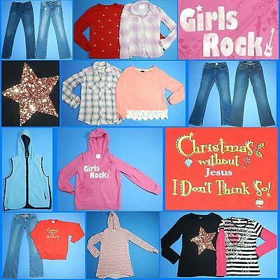 15 Piece Lot Nice Clean Girls Size 14 Fall School Winter Everyday Clothes FW156