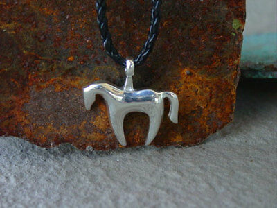 Picasso Horse Pendant Equestrian Sterling Silver,Horse Gifts, Equestrian Gifts