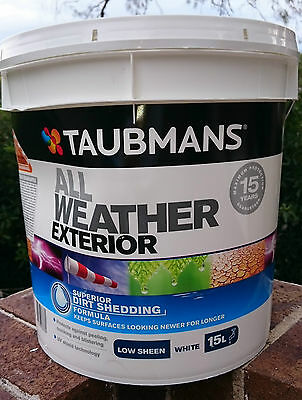 15L TAUBMANS ALL WEATHER Exterior Low Sheen Wall Paint! BLACK