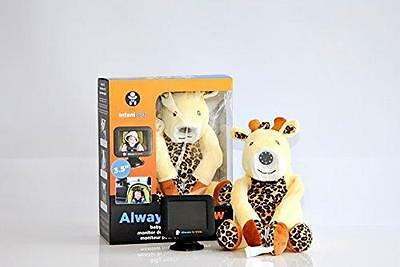 """Infanttech 1000-YG Always-in-View 3.5"""" Video Giraffe Baby Monitor for Home & Car"""