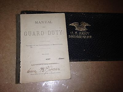 Discharge holder and  manual of  Guard  Duty 1887