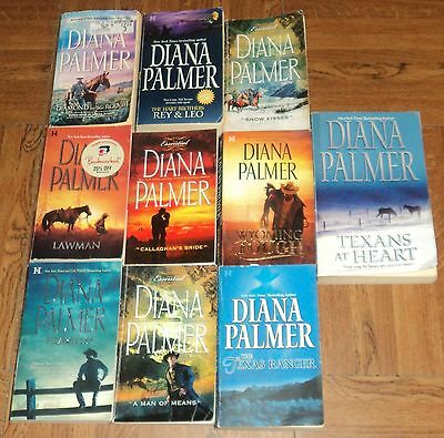 """DIANA PALMER """"ROMANCE"""" PAPERBACK COLLECTION - Lot of 10 - Great Reading!!"""
