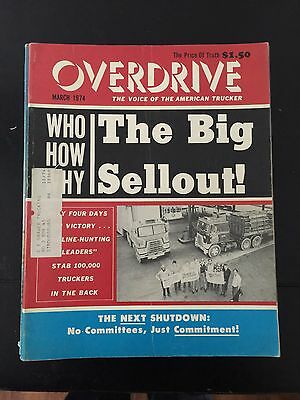 Overdrive Magazine The Voice of the American Trucker March 1974