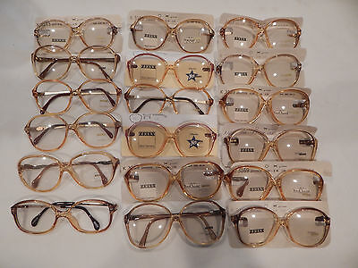 Vintage 18 pc. Zeiss Ladies Optyl Eyeglass Frame Lot New Old Stock Lot #4