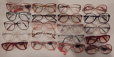 Vintage 20 pc. Safilo Ladies Plastic Eyeglass Frame Lot New Old Stock Lot #2