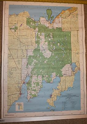 Lot Of 2 1990 Map Maps Set Of Hiawatha National Forest 28 X 40 Us Dept Forest