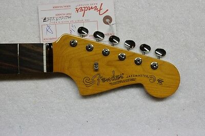NEW Fender Vintage 60s Nitro Lacquer Jazzmaster Neck & Tuners - Rosewood