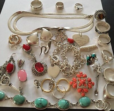 Mixed lot of  STERLING SILVER 925 JEWELRY