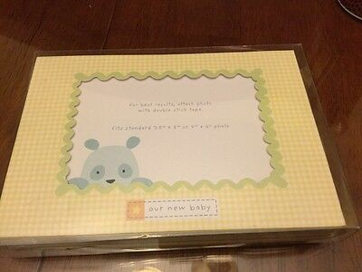 """Carter's """"Our New Baby"""" Birth Announcements Cards Baby Boy 4x6 Photo 10 count"""
