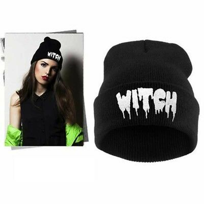 Beanie Witch Black Punisher Skull Deamon Si-Fi Hat Cap Harley Helmet Mask Patch