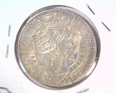 1899 Great Britain Silver Florin Coin KM#781 About Uncirculated .42 ASW Victoria