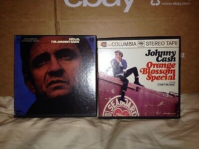 Johnny Cash Set Of Two Reel To Reel 4 Track Tapes.