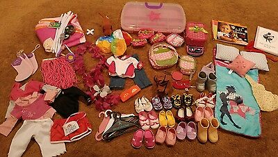 "Lot of 18"" Doll Clothes, Shoes, Accessories - American girl, Battat"